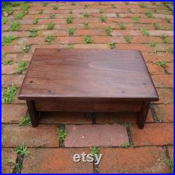 11 x 20 Adult Step Stool, Choice of height and color, Choose from 5 to 8 tall, 22 steel screws English Chestnut, custom sizes ASK