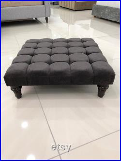 120cm x 120cm Footstool Coffee Table Available In Various Colours and Fabrics