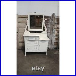 1890's Oak Step Down Painted Chest Of Drawers 185433