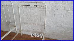 2 Pair of Vintage White Painted 3ft Bed Frames