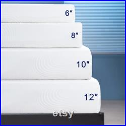 8 Inch Mattress Gel Memory Foam Mattress with Removable Soft Cover