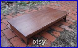 Bedside Step Stool 17 x 24 long, 6.5 h Handcrafted Heavy Duty Riser Platform, Bed, Wood, Red Mahogany pick color