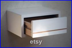 Bedside table white strip narrow hanging, different widths NEW