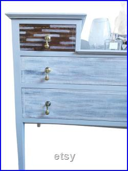 Bespoke upcycled hand-painted dresser chest of drawers dressing table