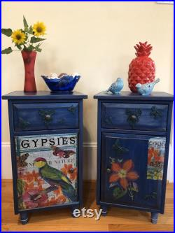 Chalk painted nightstands end tables