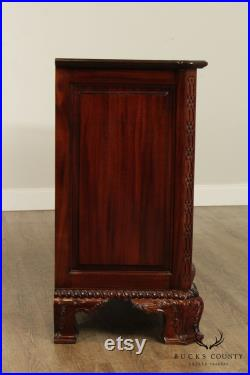 Chippendale Style Solid Mahogany Serpentine Carved Long Dresser