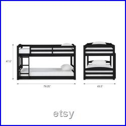 Convertible Bunk Bed Twin Size