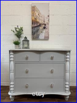 Custom bespoke hand painted to order solid pine chest of drawers
