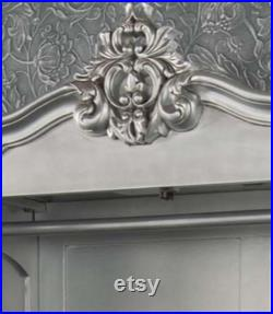 French Style Stunning wardrobe in Silver , elegant and stylish that oozes charm and sophistication for your bedroom.