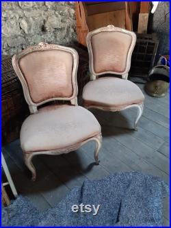 French Vintage chairs, Pink chairs, Boudoir chairs, Antique French chairs, Pink French chairs,