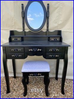Hand painted dressing table and stall