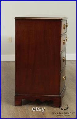 Hickory Chair Co. George III Style Mahogany Bow Front Long Dresser