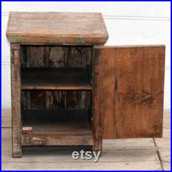 Indian Wooden Reclaimed Bedside cabinet Nightstand Side table