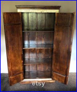 Indian solid mango wood almirah cupboard, wardrobe, furniture, home and living
