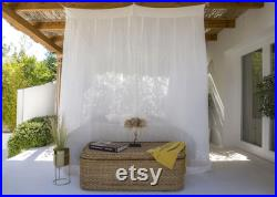 Kasna Luxury King Bed Canopy Organic off-White Cotton Bali Handmade Mosquito Net Four-Poster Bed Romantic Bedding Decor