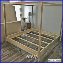 King Size Canopy Bed Made in US