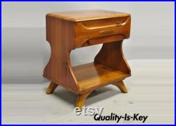 Mid Century Franklin Shockey Sculptured Pine One Drawer Nightstand Bedside Table