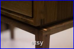Mid century modern nightstand, made from solid walnut, bedside table, side table