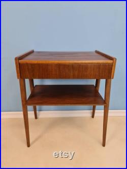 Midcentury Carlström and Co Teak Vintage Side table Bedside table Night stand straight from the sixties