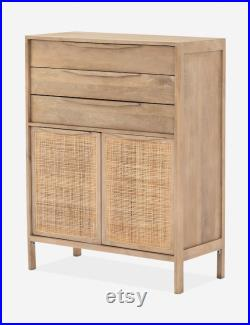 Modern dressers, woven rattan drawers offer gorgeous tonal variations to add texture
