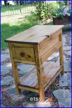 Narrow End Table, Night Stand, End Table, Table, Side Table, Night Stands, Entryway Table, Cyber Monday Sale Early American Stain