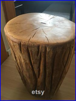 Oak stool with rollers
