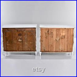 Pair of 19th Century English Pine Chests with New Paint 9238