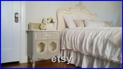 Pick Your Color Free Shipping Vintage French Provincial KING Size Bed Headboard Only Glam Hollywood Romantic Farmhouse Country