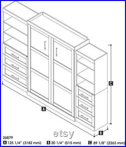 Pur Collection, Queen Murphy Bed White (126 )
