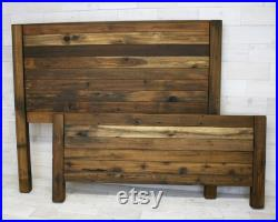 Reclaimed Wood Hanging Headboard, Headboard with Posts, or Headboard Footboard Combination choose your size Remilled Horizon Design