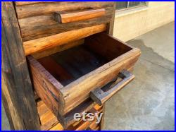 Rustic Cabin 6 Drawer Log Chest, Free U.S. Shipping