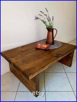 Rustic Coffee Table Rustic Chunky handmade furniture Solid pine wood Handmade to order Many Colours