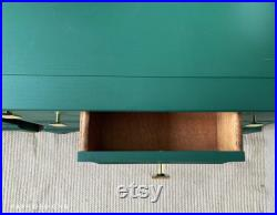 SOLD SOLD SOLD Pair of Stag Minstrel Chest of Drawers Painted Green