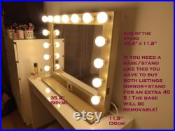 SUPER sale XL Hollywood lighted vanity mirror-makeup mirror with lights- Perfect for Ikea malm vanity -Bulbs not included