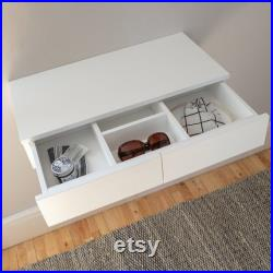 Small Floating Dressing Table White
