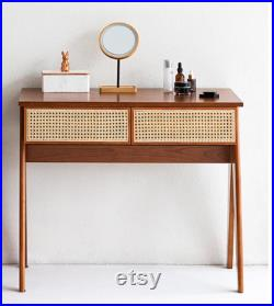 Small bedroom of contracted ins wind receives desk cane makes up cherry wood PJ dresser