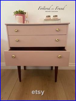 Small mid century modern chest of drawers dressing table