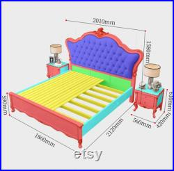 Solid wood bed master bedroom luxury king bed 1m 8 double bed wedding bed