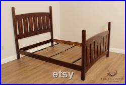 Stickley Mission Collection Harvey Ellis Inlaid Queen Bed