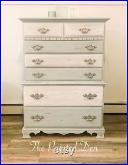 Tall Vintage Distressed 7 Drawer Dresser Shipping Not Included