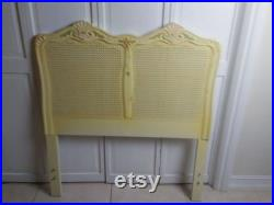Twin French Provincial Style Headboard Hand Painted Cane Insert Set Of Two Shipping Is Not Included