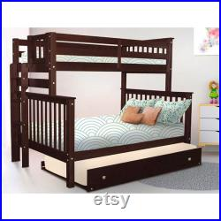 Twin Over Full Bunk Bed with Trundle
