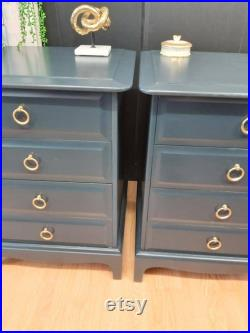 Two navy Stag 4 drawer chest of drawers Free Delivery