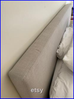 ULTRA Headboard Thick Cushioned Fabric Headboard, No Hard Surfaces Perfect for Modern, Minimalist Homes available only as a Custom Order