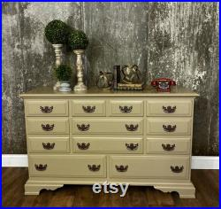 Vintage Painted Dresser, Taupe, Beige, Painted Sideboard, Chalk Paint with Protective Overcoating