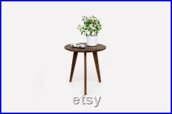 Walnut Side Table, Nightstand, Night Table, Handmade Side Table, Round Table, Artisan, Table Basse, Mesa de cafe, Table, Couchtisch