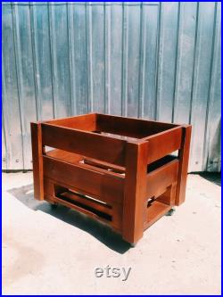 box for vinyls, wodden furniture, wooden gift, box for records