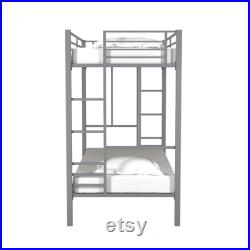 twin over twin metal bunk bed